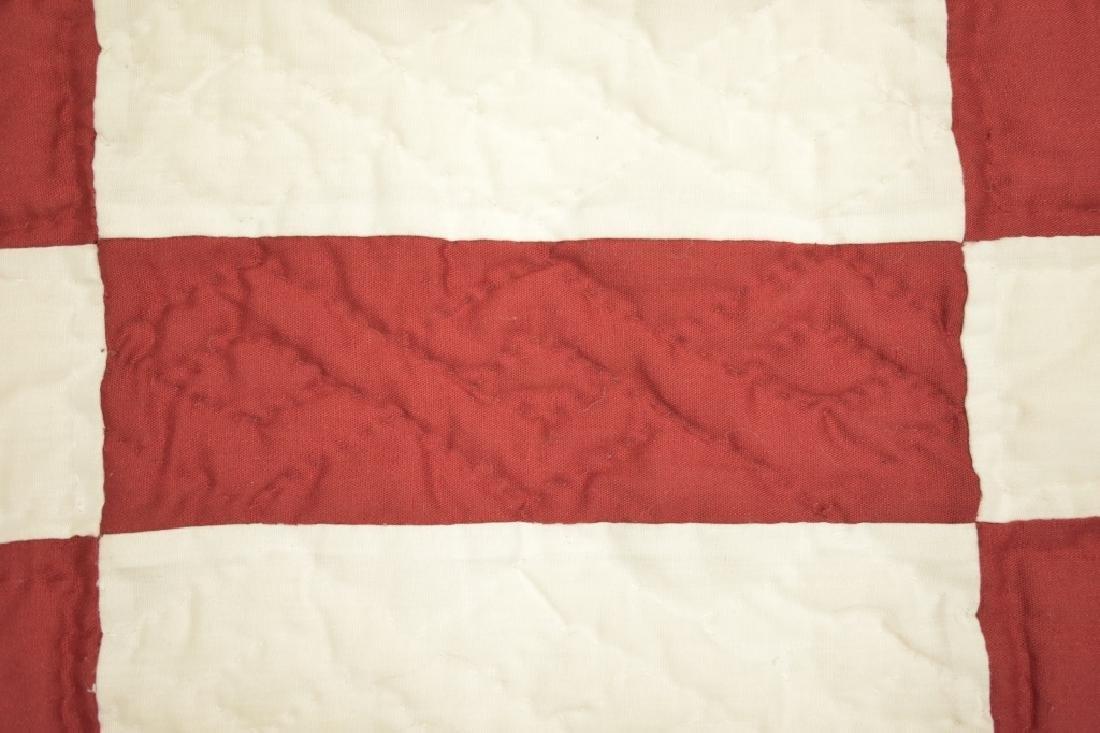 1980's Hand Sewn Block Pattern Quilt - 2