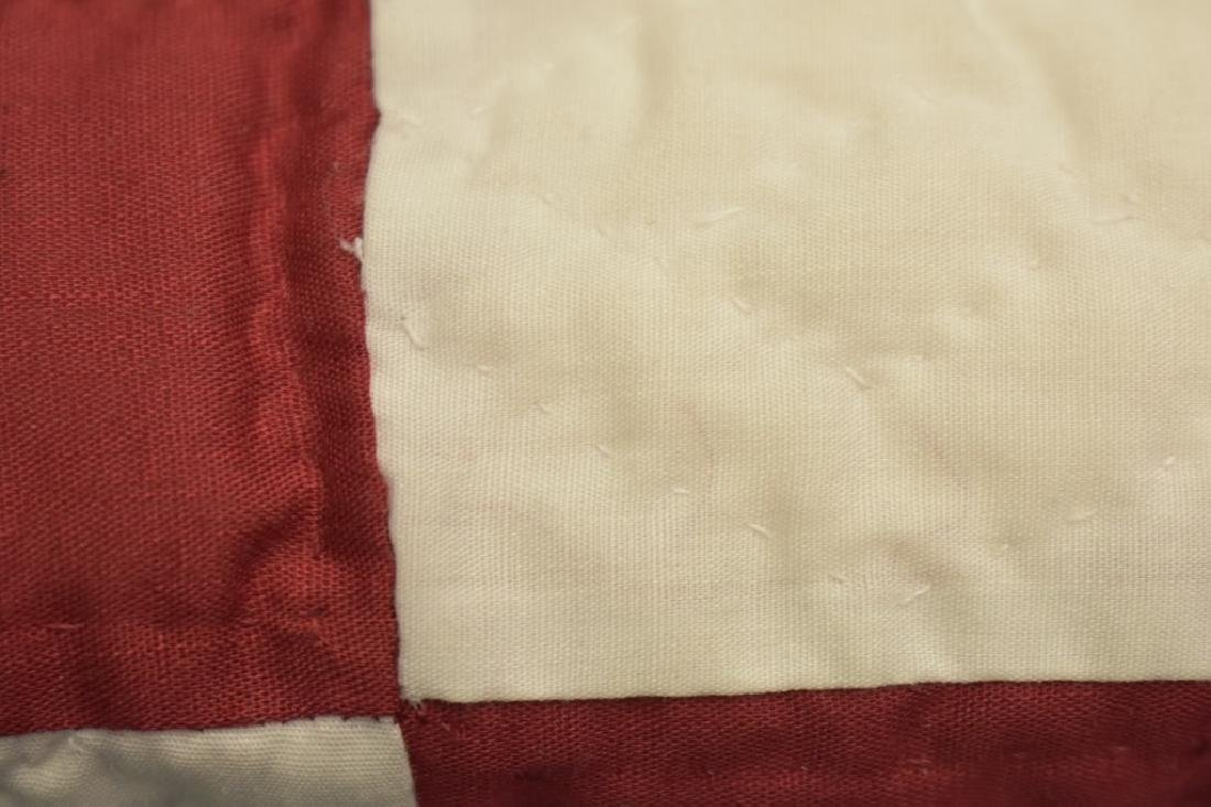 1980's Hand Sewn Block Pattern Quilt - 3
