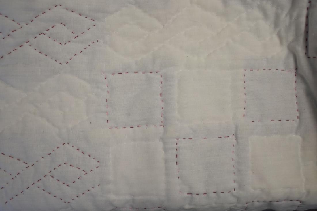 1980's Hand Sewn Block Pattern Quilt - 4