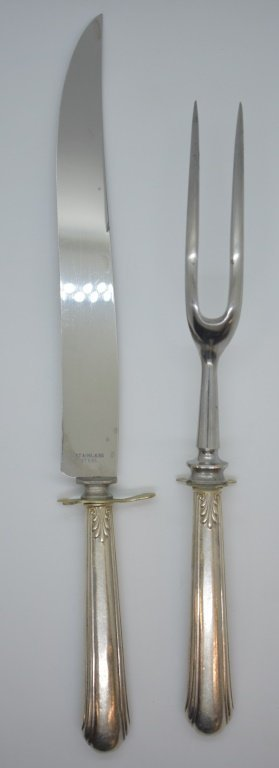 2 pcs. Sterling Silver Carving Knife Set