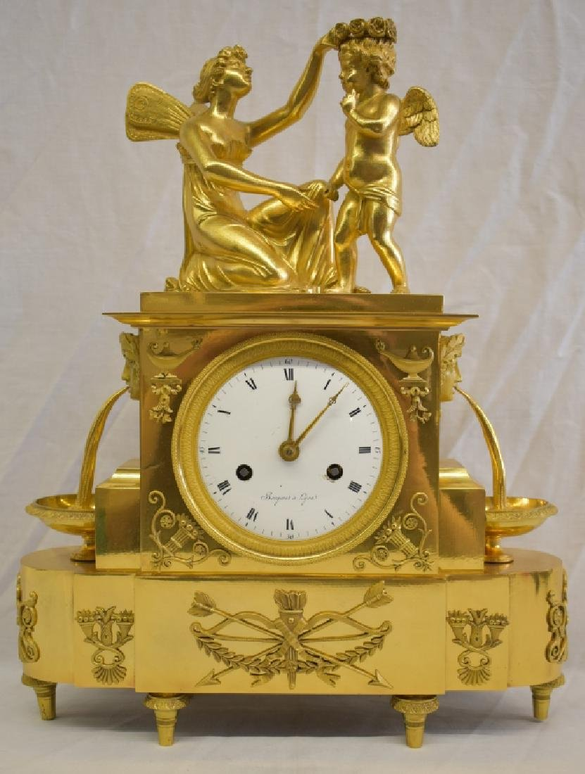 Antique Regency French Ormolu Figural Clock