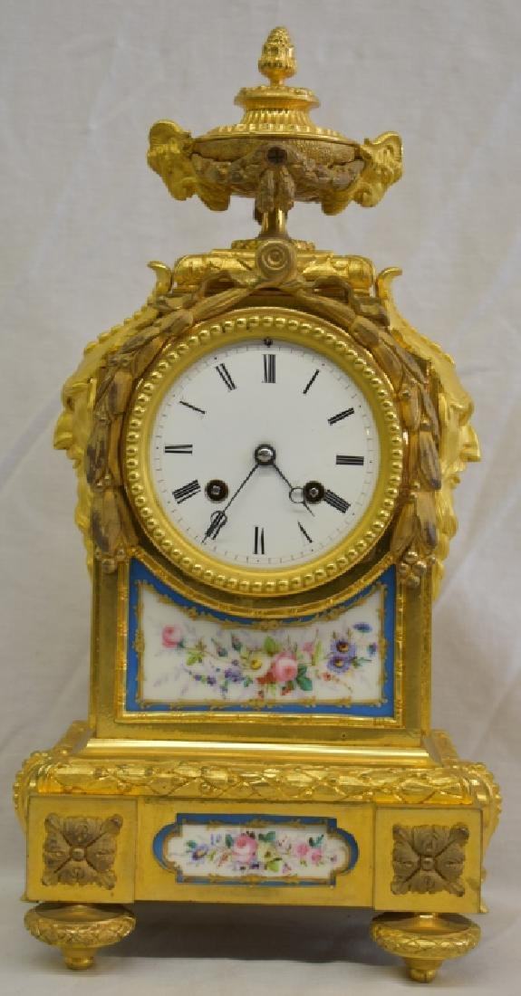 Antique French Ormolu Figural Clock