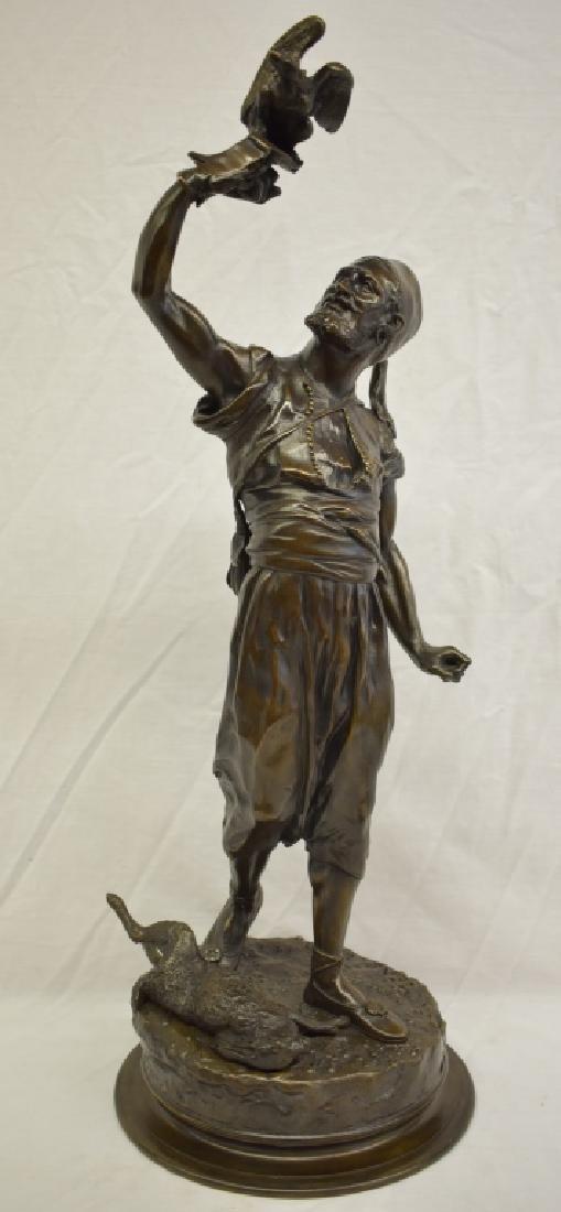 Pierre Jules Mene The Arab Falconer Bronze