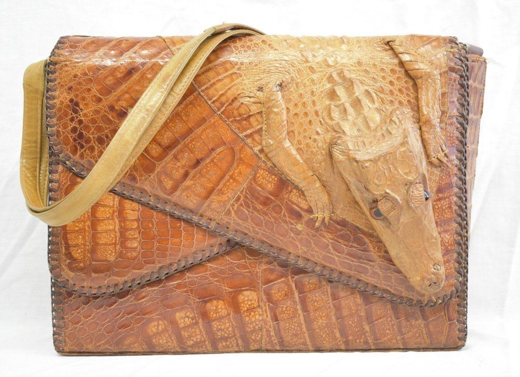 Vintage Cuban Alligator Purse