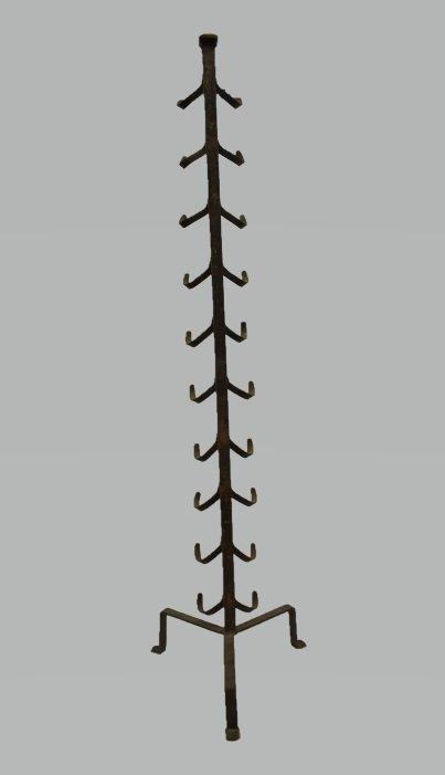 Antique Blacksmith Made English Rifle Rack - 5