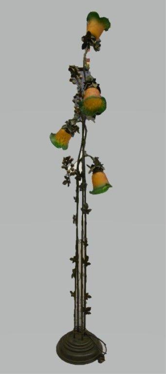 Art Nouveau-style Floor Lamp