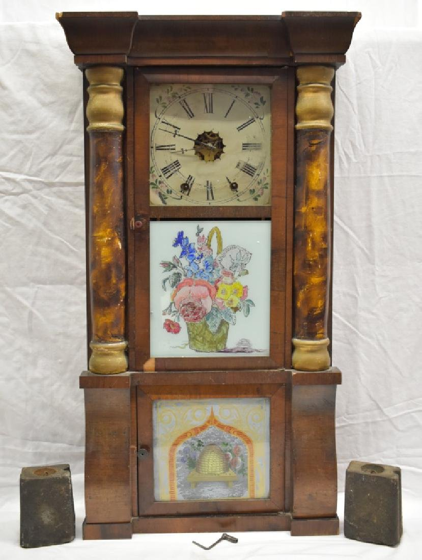 ca. 1850's Reverse Painted Jerome 8-Day OGee Clock