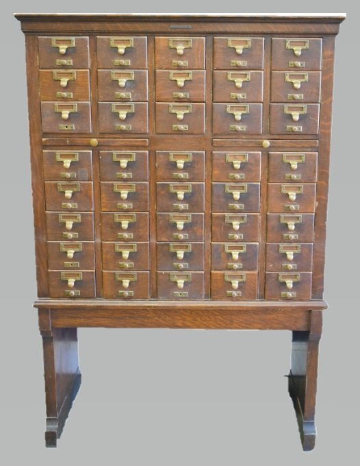 Antique Library Bureau SoleMakers Card Cabinet