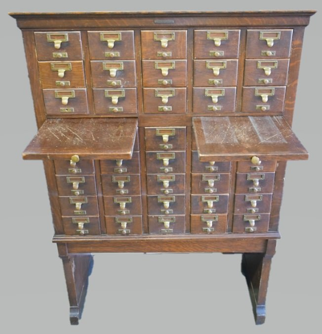 Antique Library Bureau SoleMakers Card Cabinet - 3