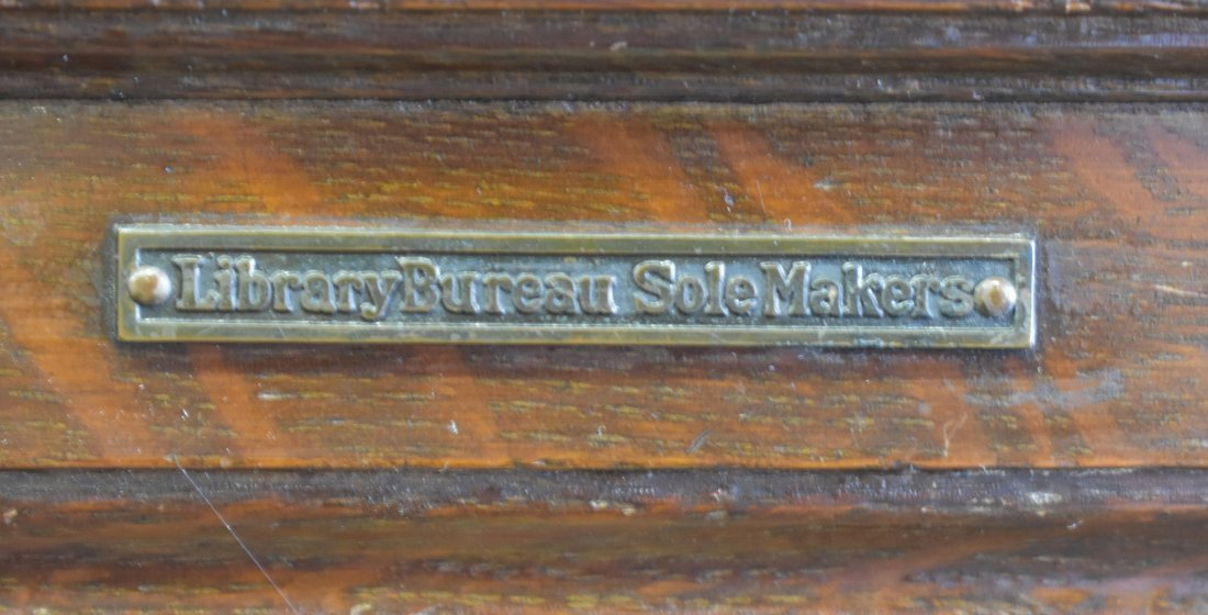 Antique Library Bureau SoleMakers Card Cabinet - 6