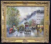 J. Gaston Parisian Street Scene