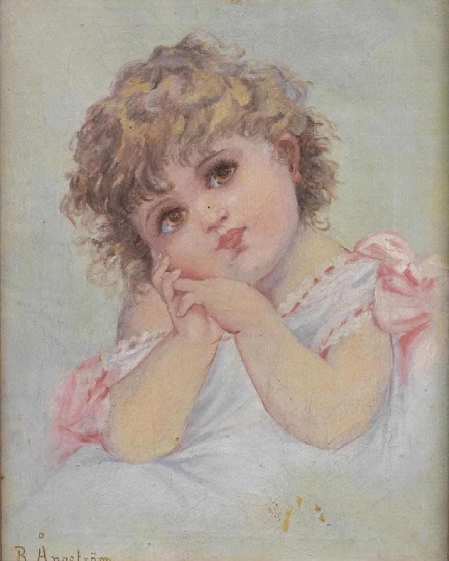 B. Anastram O/C Portrait of a Young Girl - 2