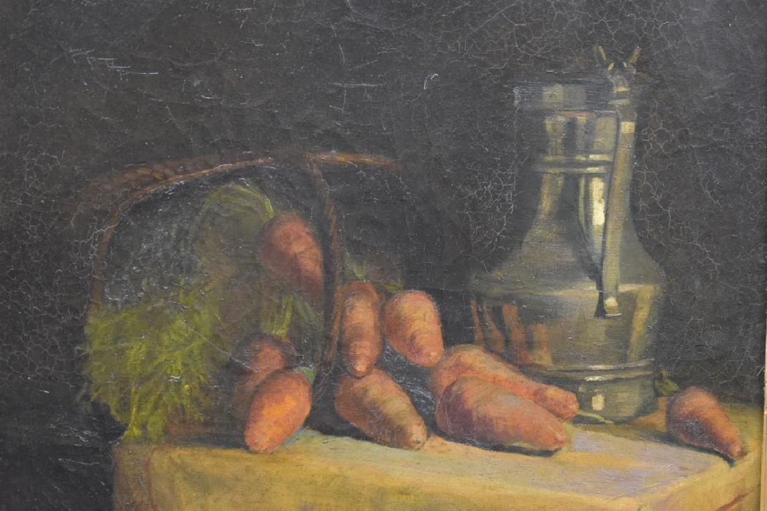 William Merritt Chase Still Life of Carrots O/B - 3