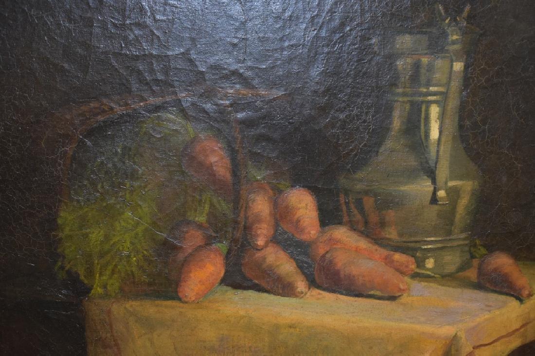 William Merritt Chase Still Life of Carrots O/B - 5