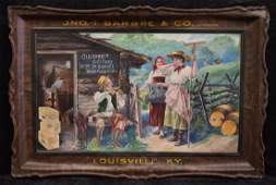 John T. Barbee Pre-Prohibition Tin Litho Sign