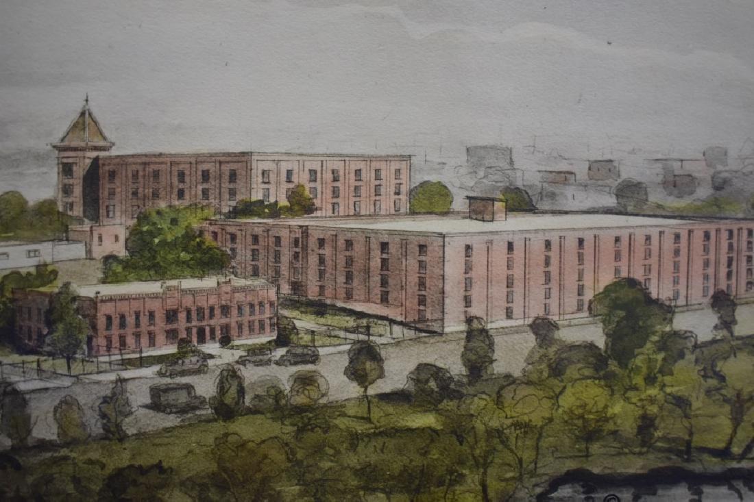 1936 George D. Lee Distillery Landscape Watercolor - 5