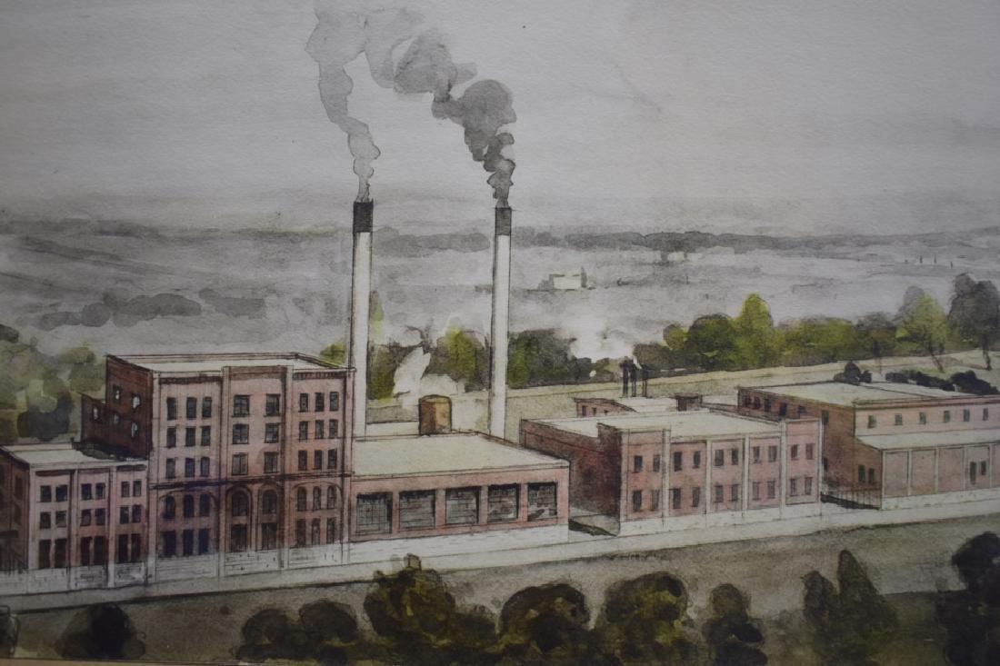 1936 George D. Lee Distillery Landscape Watercolor - 6