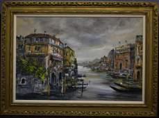 Gregoire Venetian Canal Scene OC