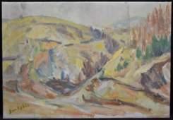 Jan Cybis Post-Impressionist Landscape O/C