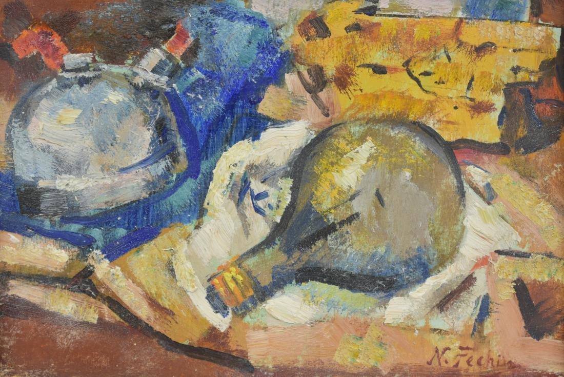 Nicolai Fechin Abst. Impressionist Still Life O/B