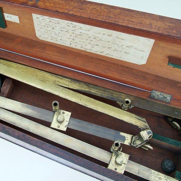 346: Brass pantograph by J Davis, Derby circa 1850,  wi