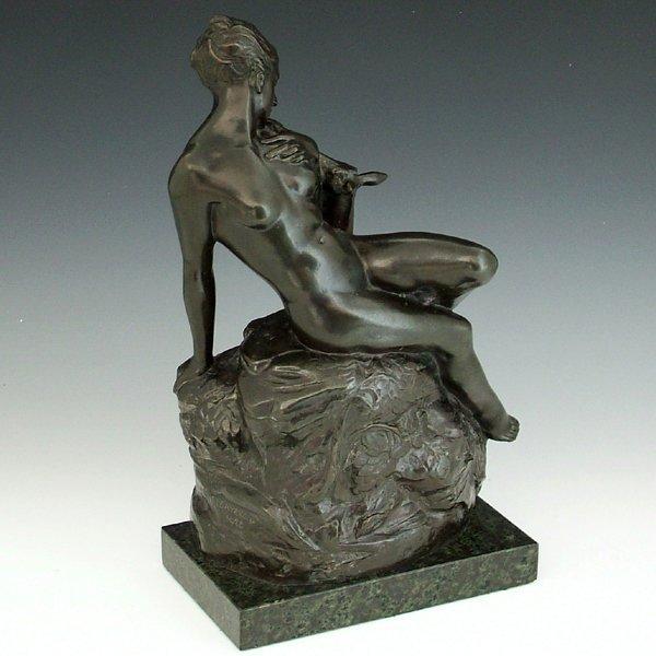 347: F. I. Sayers, 1928, green bronze study of a female