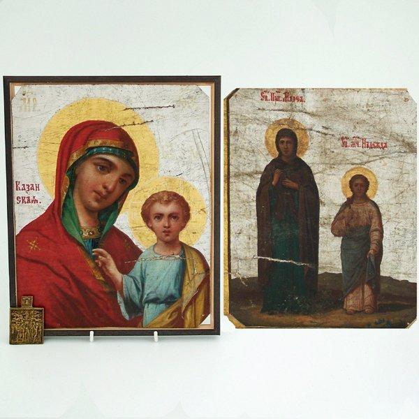 361: Kazan Virgin, a Russian Orthodox Kazanskaya icon,