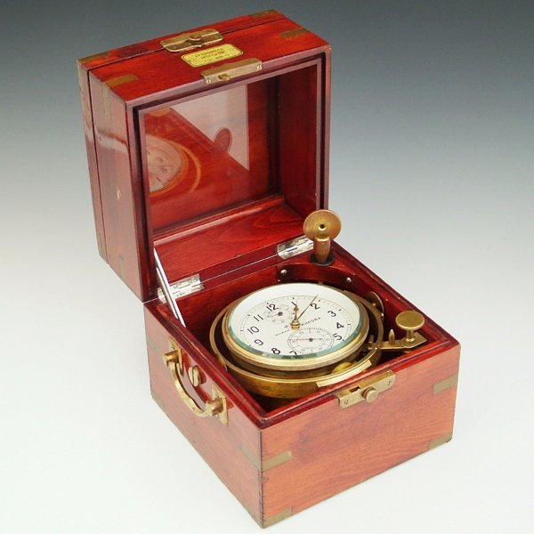 363: Soviet marine chronometer, 56 hour fusee movement,