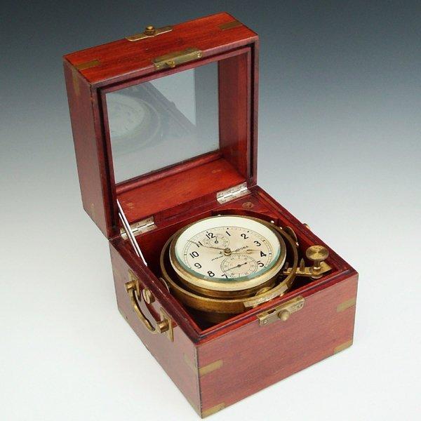 365: Russian marine chronometer, 56 hour fusee movement