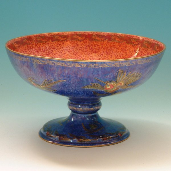 481: Wedgwood fairyland lustre footed bowl  decorated w