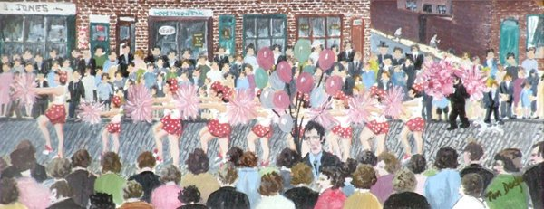 3: Tom Dodson (1910-1991),  The Morris Dancers, signed,