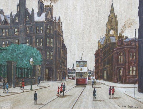 7: Arthur Delaney (1927-1987),  Manchester street scene