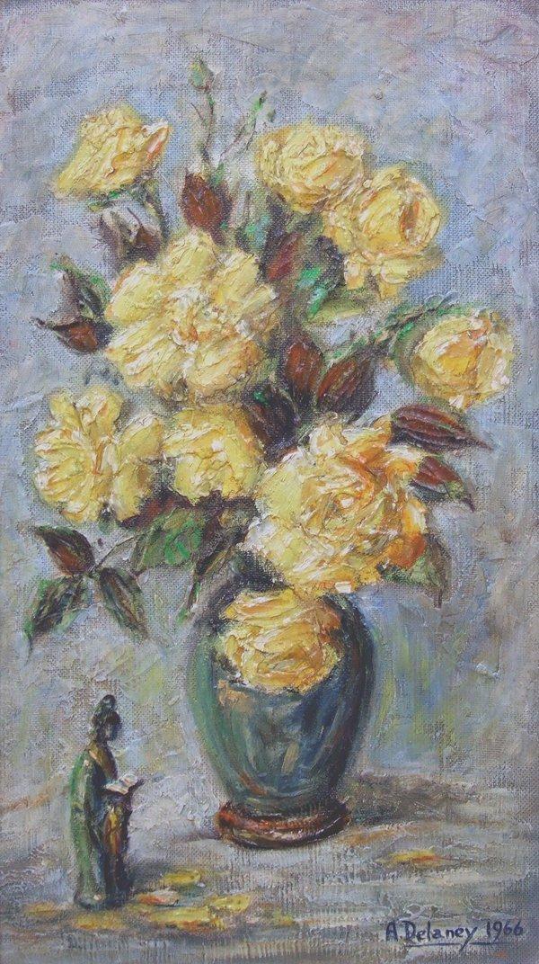10: Arthur Delaney (1927-1987),  Still life of flowers