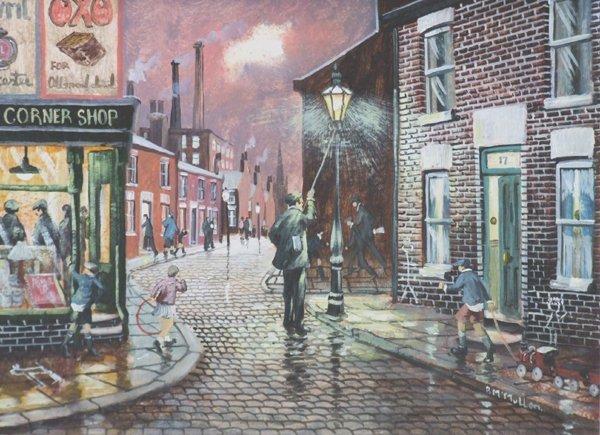 12: Bernard McMullen, 20th century,  Lamp Lighter, sign