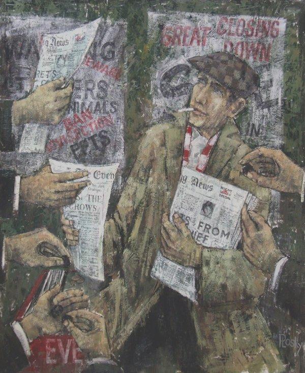 21: Jonas Thomas Plosky (1940-),  News Please, signed,