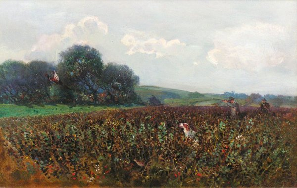 7: William Woodhouse - pheasant shooting, oil