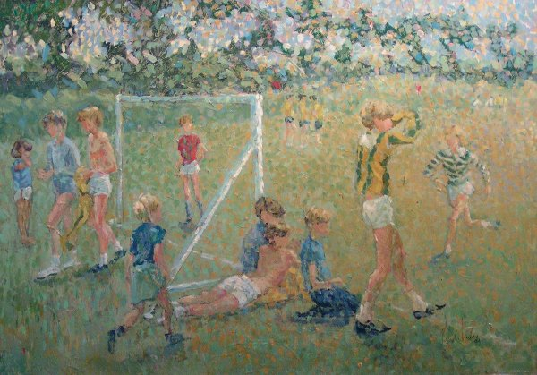 13: Patrick Barclay - The Match, oil/canvas Norham