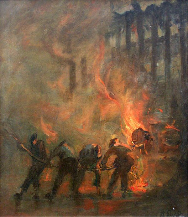 14: Kurt Peiser, Working in a foundry, oil