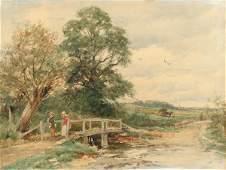 92: David Bates, Footbridge near Hanley Castle, Malvern