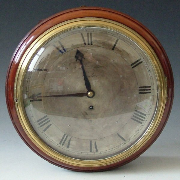 342: Matthew Dutton 8 day wall clock with pendulum and