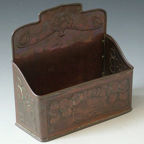 459: Art Nouveau copper wall box