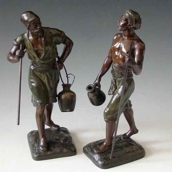 464: Pair of bronze figures