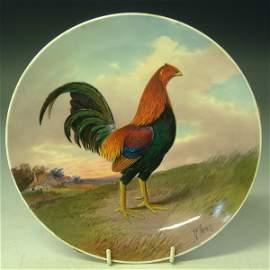 733: Minton plate (framed) JE Dean