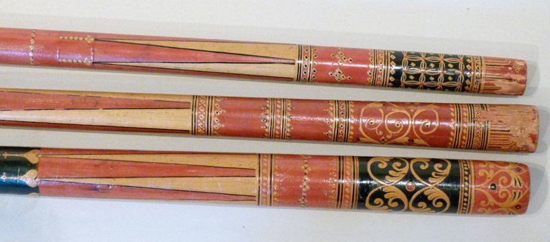 Three early 19th century Indian Dandy canes.