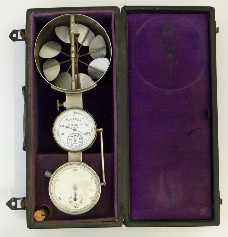 Aeronautical anemometer and papers.
