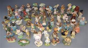 Collection of sixty four Beswick Beatrix Potter