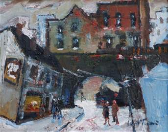 William Turner, The Cake Shop, Stockport, oil.