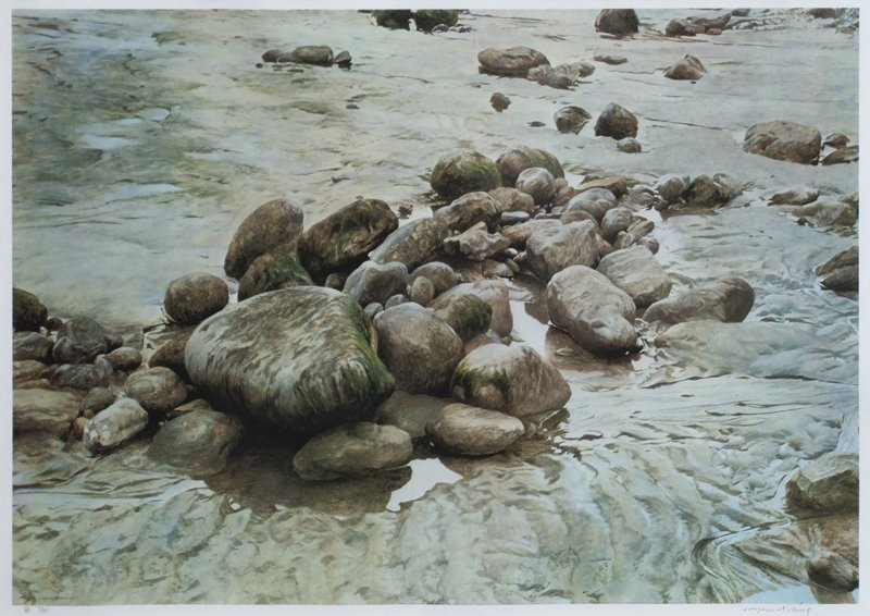 After Raymond Ching, Tide, signed print.