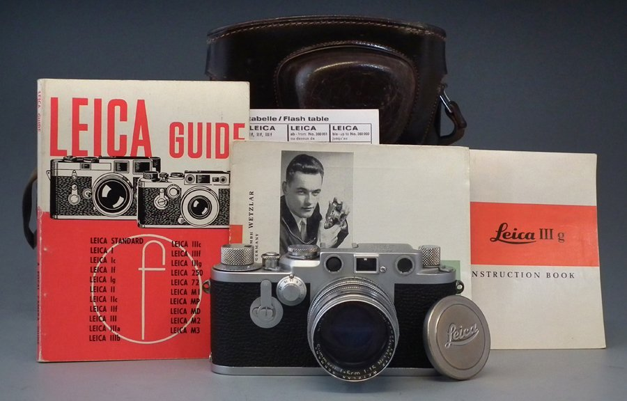 Leica III G. camera serial number 773529, fitted with