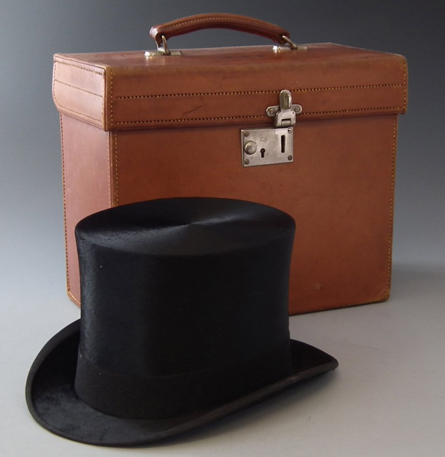 Top hat by Scott & Co., London, dated 1931 in leather